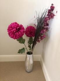 Next vase with flowers