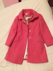 Monsoon girls pink coat