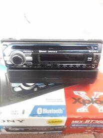 Sony Car Stereo Head Unit Aux USB CD Bluetooth AM/FM radio.