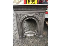 Refurbished old cast iron fire surround.