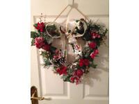 Christmas heart wreath