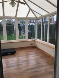 Large upvc conservatory