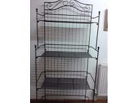 Steel ornate display rack