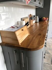 Real oak kitchen worktop