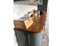 Real oak kitchen worktop