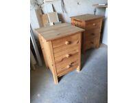 Ikea Pine Bedside Tables 2off