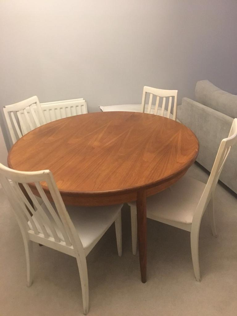 Vintage G Plan Round Extending To Oval 1960s Dining Table