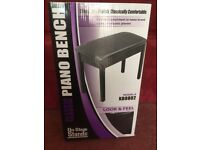 Classic piano bench by on-stage stands, new, boxed