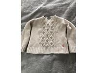 Girls Lambswool/cotton Joules jumper