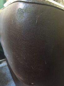 Genuine used leather sofa