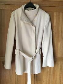 Cream coat size 14 by Coast