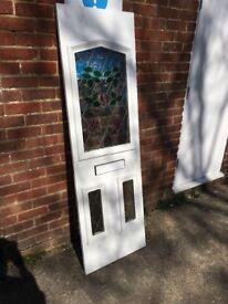 White UPVc Door panel/infill