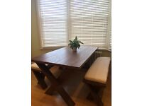 Table and bench dining set
