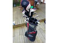 Strata by Callaway golf clubs and bag