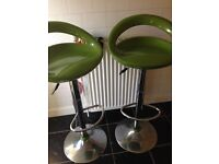 Lime coloured bar stools
