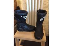 Ladies Motorcycle Boots size 5 Alpinestars black
