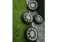 Bmw mv2 18inch genuine alloy wheels Michelin pilot sport tyres