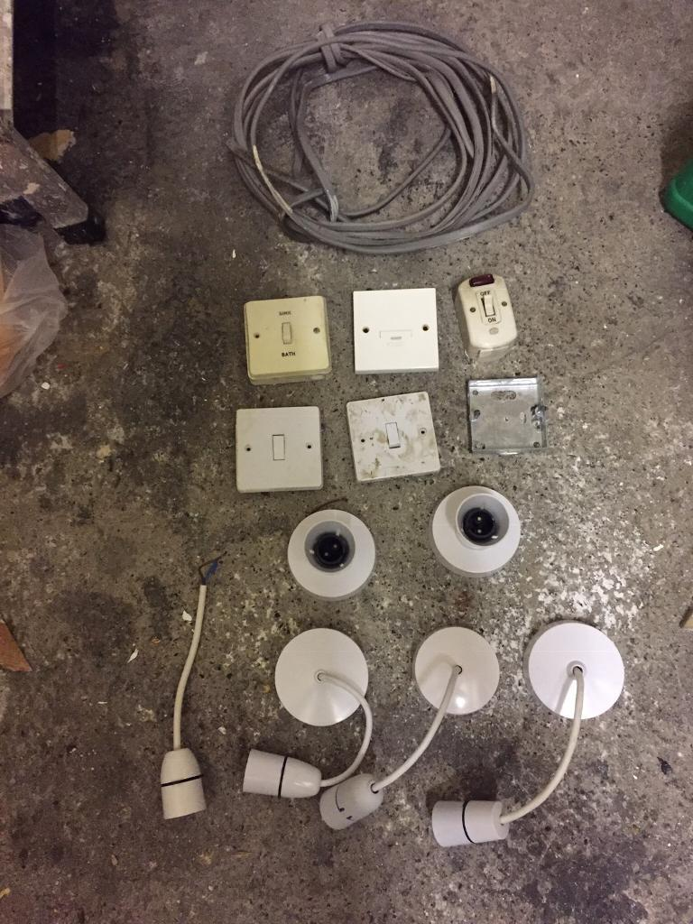 Job Lot Of Light Fittings Plugs Switches In Newcastle Tyne And Wiring A Plug To Fixture