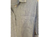 Blue & White Stripes Shirt Boyfriend Cut, for Women, Like New, Zara, size M