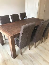 Furniture Village Acacia Wood Table and chairs