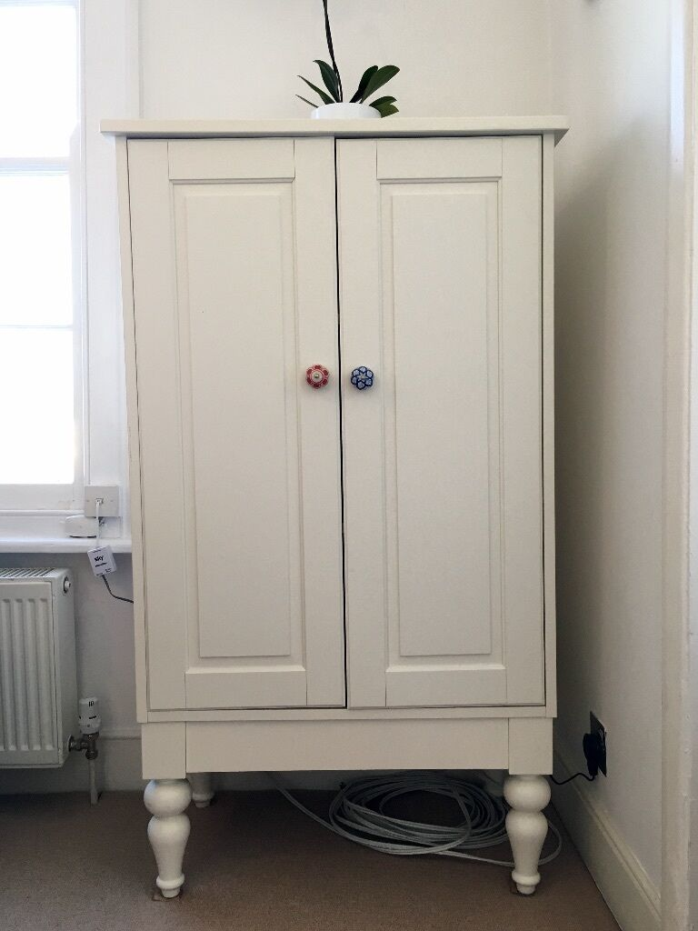 Beautiful, white cabinet  IKEA Isala  RRP £165  in