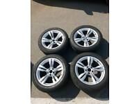 Genuine BMW F15 19 inch m sport alloy wheels with run flat tyres good condition