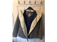 Mantaray Grey Tailored Coat from Debenhams Size 14
