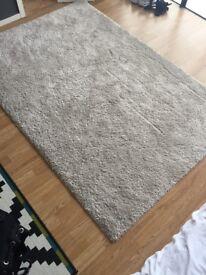 Ikea beige high pile rug