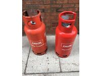 Calor gas bottles 19kg one full and one empty