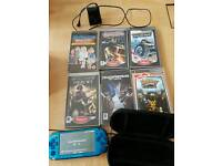 Blue psp with games