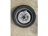 ST1100 Pan European complete rear wheel with worn tyre