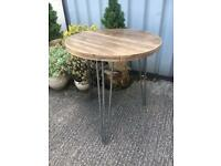 Repurposed Solid Wood Garden Patio Bistro Table