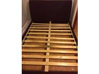 King Size Bed frame with Large Headboard.