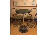 Bar table with stools / chairs