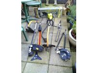 petrol garden strimmer and multi tool ryobi