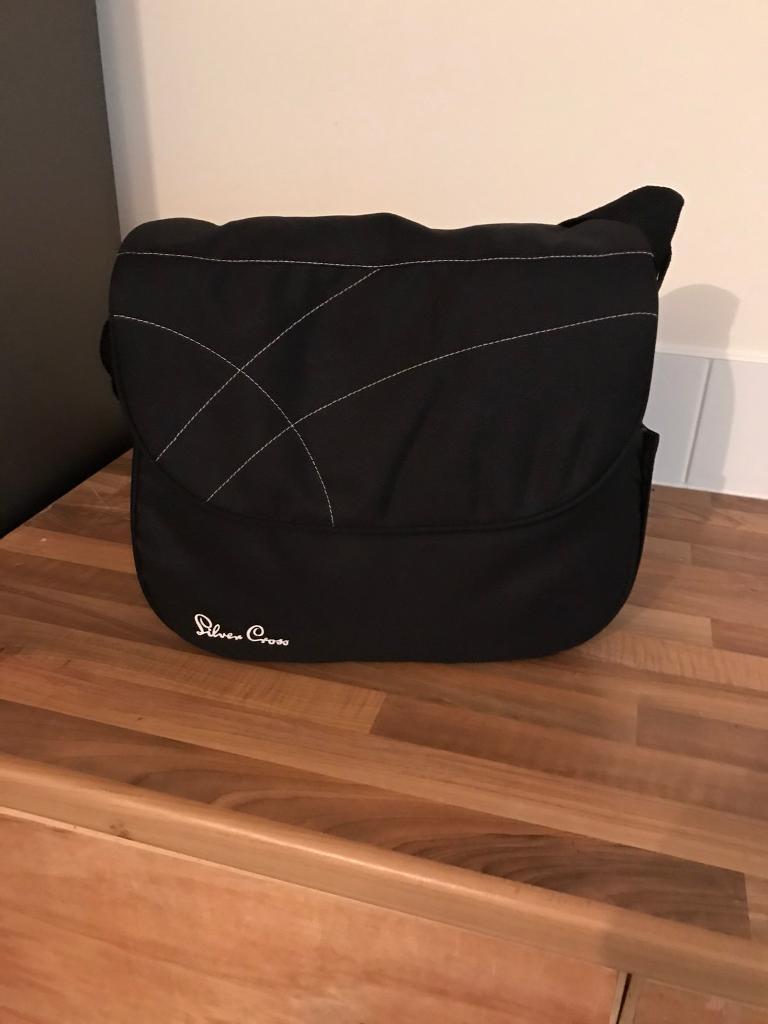 Silver cross changing bag - black