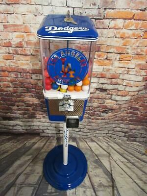 vintage gumball machine LA Dodgers theme candy machine with metal stand