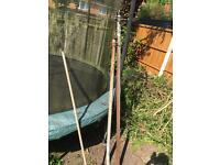 2x washing line posts