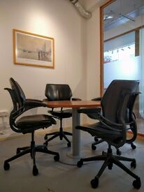 Bespoke built work offices, shared space, private studios, hot desks, high ceilings, lots of light