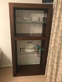 walnut display unit