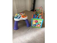 Toddler activity table & cube
