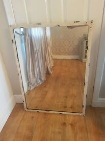 Large cream shabby chic mirror