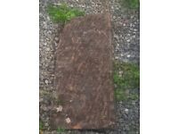 """sandstone slabs different sizes but all app 4"""" thick there is 10 if these"""