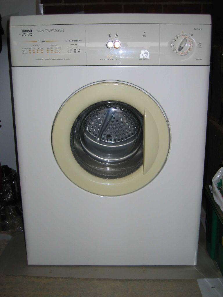 Tumble Dryer Temperature ~ Zanussi td w dual temperature auto reverse vented