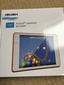 Bush 7.85 android powered my tablet pink back used once including red cover ideal Xmas present £40