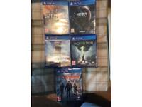 5x PS4 games