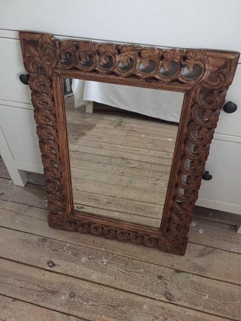 Mango Wood Mirror