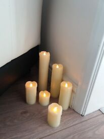40 slim LED battery dripping wax candles