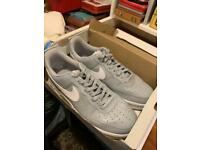 Nike Men's AF1 Trainers UK Size 11.5 - Grey/White - Great Condition - RRP £110