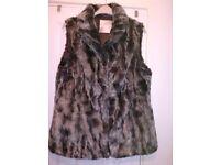 John Rocha faux fur gillet size 16